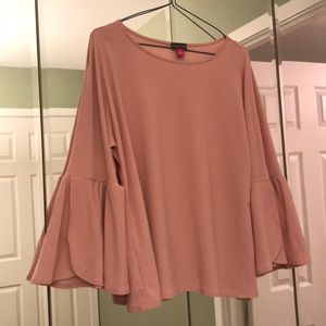 Vince Camuto Blush Bell Sleeve Top S